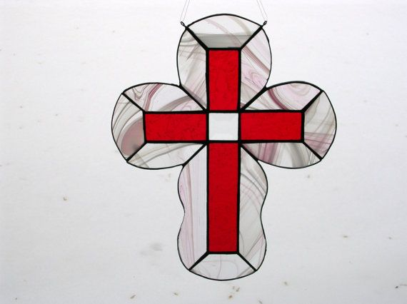 white cross on red background flag