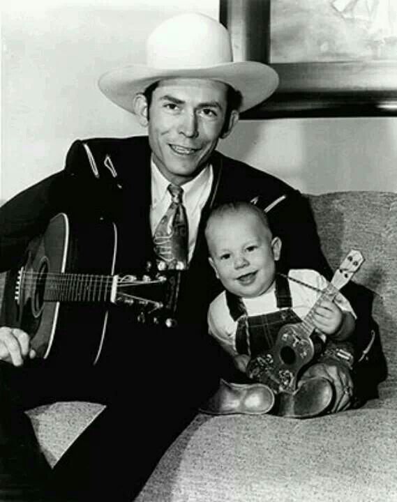 Hank Williams and little Hank Williams Jr.