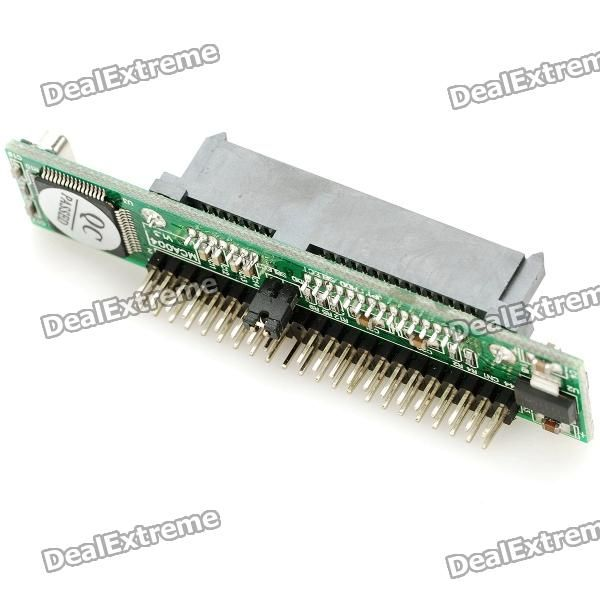"SATA 7+15 Pin to IDE Adapter Module. "" Color: Black - 7+15 pin SATA to IDE adapter - Chipset: JM203303, no external battery needed - Allows connect your old IDE motherboard with 2.5"""" SATA HDD - Serial ATA 1.0 specification, up to 150Mbps transmission speed - Compatible with ATA 66 / 100 / 1336 - Plug and play - Compatible with Windows 98 SE/ 2000 / ME / XP / Vista, NT4.0, Linux 8"". Tags: #Computers/Tablets #Networking #Cables #Adapters #Computer #Cable #Adapter"