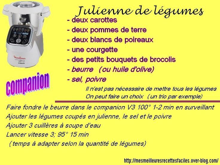 Les 163 meilleures images du tableau cuisine avec compagnon moulinex sur pinterest - Appareil julienne legumes moulinex ...