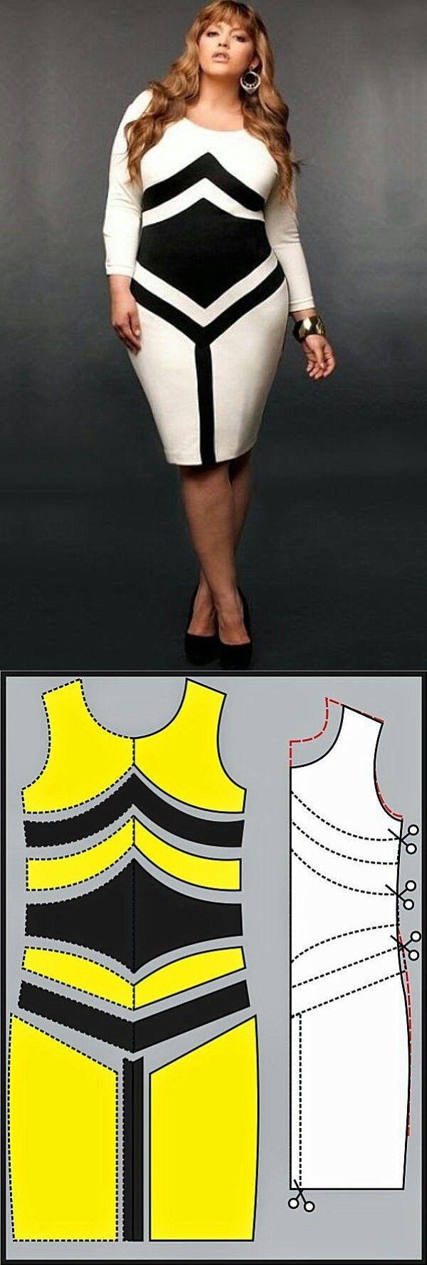 Lovely stripped block pattern dress