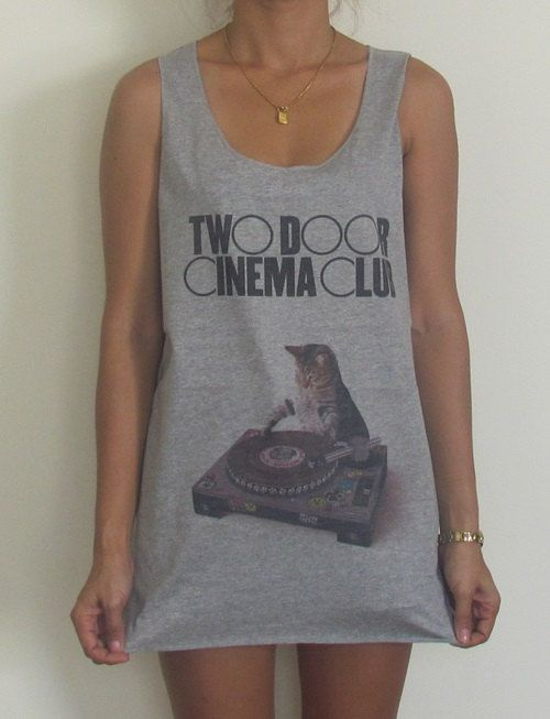 Two Door Cinema Club Vest Tank Top Singlet T-Shirt The Vaccines Bombay Bicycle Club Coldplay The Fray Arctic monkeys Queen Of The Stone Age