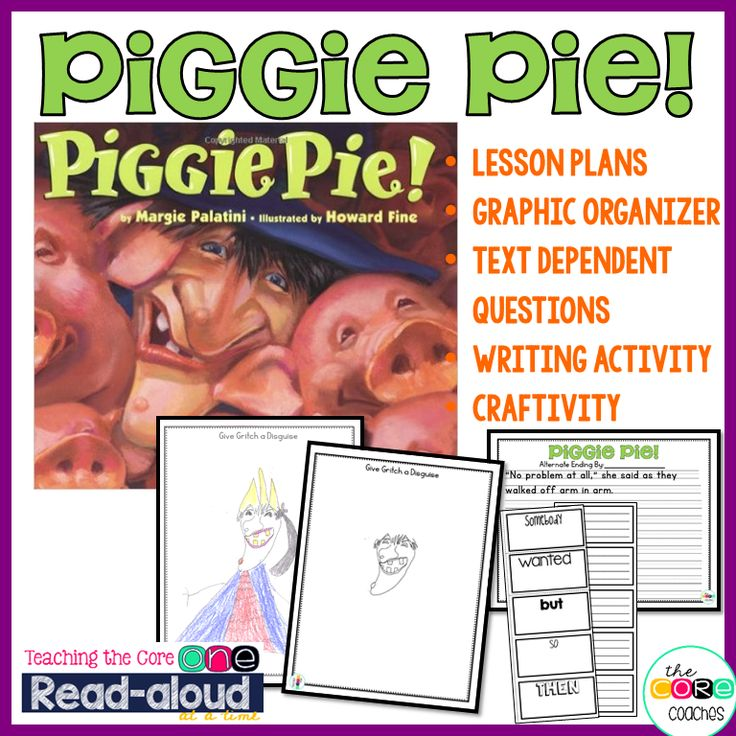 Piggie Pie! Teaching the Common Core one read-aloud at a time.