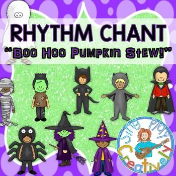 """Halloween Music Game and Rhythm Lesson """"Boo Hoo, What are You?"""""""