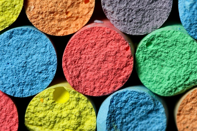 colorful chalk macro