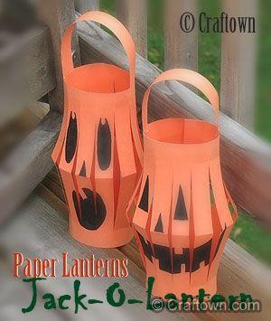 jack o lantern paper lanterns halloween crafts for kids