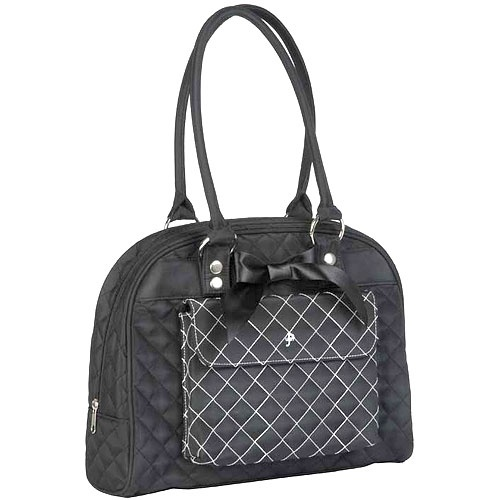 Black Tea Cate Tote Diaper Bag : PoshTots
