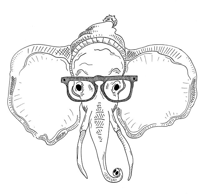89 Hipster Animals Coloring Book