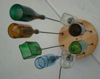 Gerecycled fles kroonluchter de markies Gin door MoonshineLamp