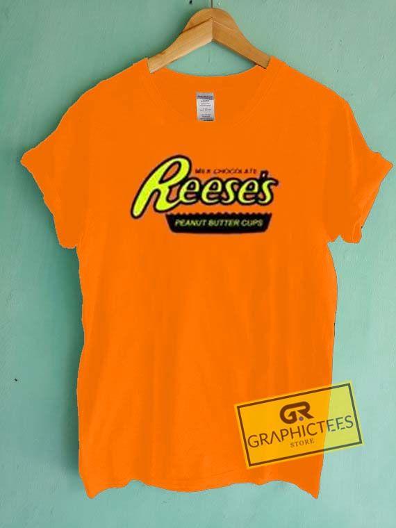 Reese's Orange Graphic Tee shirts //Price: $13.50 //     #graphic tees ideas