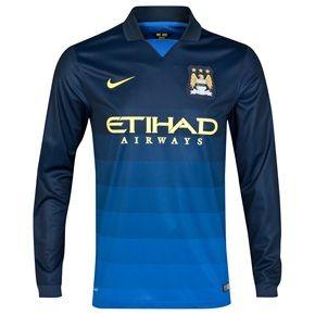 Manchester City Away Shirt 2014/15 - Long Sleeve