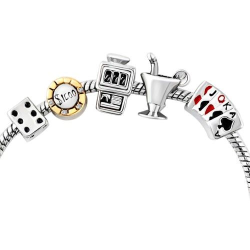 Gamble Lucky Royal Flush Poker Mahjong Cocktail Bead Set Heart Love Lobster Clasp Bracelet Pandora Compatible | Charmsstory.com #bracelet #charms #pandora #trollbeads #luckycharms