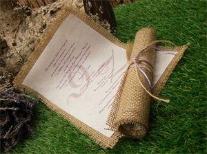 Προσκλητήριο γάμου με λινάτσα