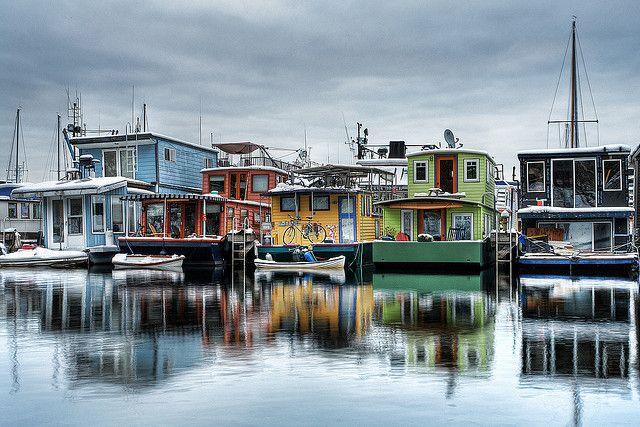 Seattle House Boats by David M Hogan, via Flickr