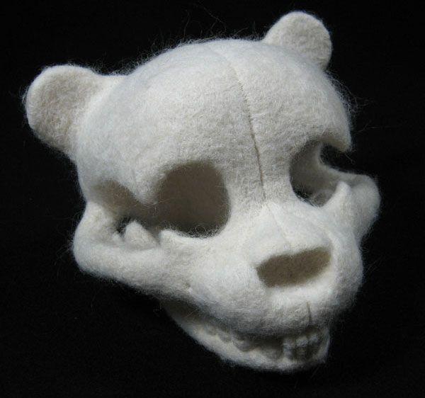 Teddy bear anatomy by felt sculptor Stephanie Metz
