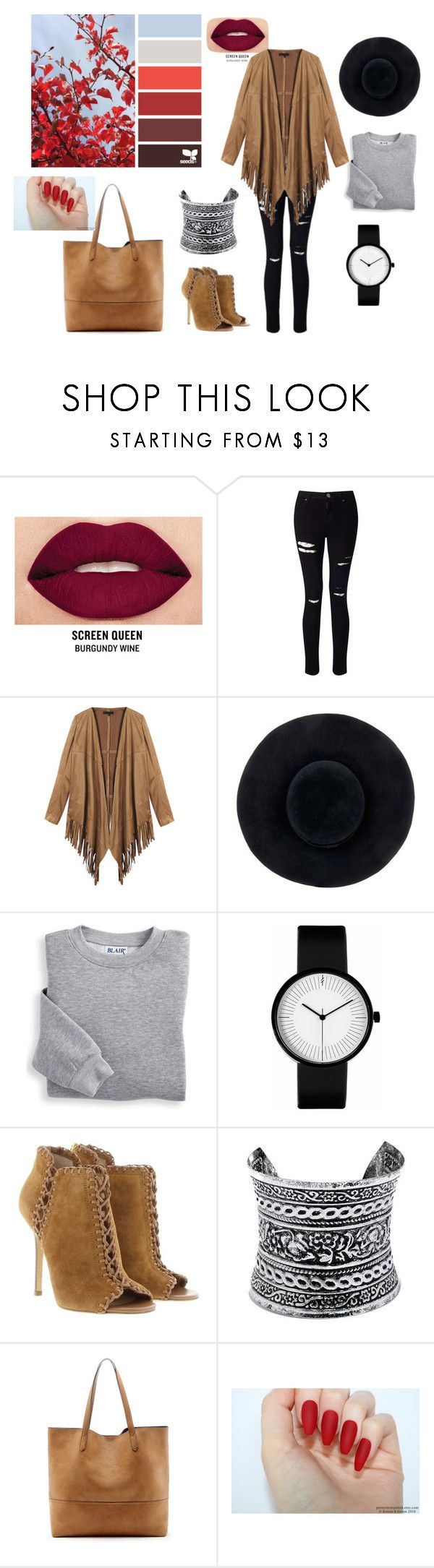 """AUTUMN SET _ by Bunny"" by sweetlittlebunny on Polyvore featuring moda, Smashbox, Miss Selfridge, Eugenia Kim, Blair, Michael Kors, LULUS i Sole Society"