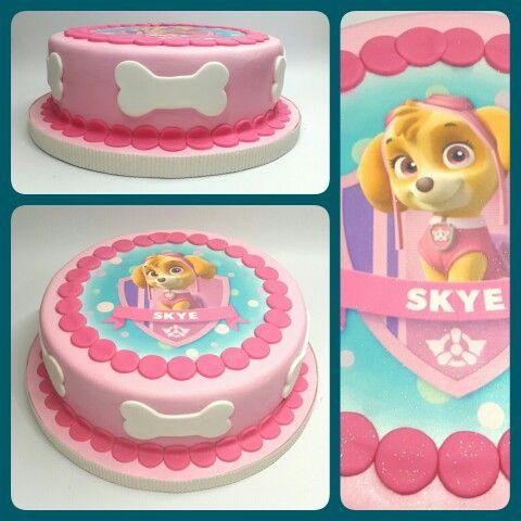 Cake Skye_Paw Patrol #PrityCakes #fondantcakes #fondant #cakes #tortas #edibleprint #pawpatrol #discoverykids #skye