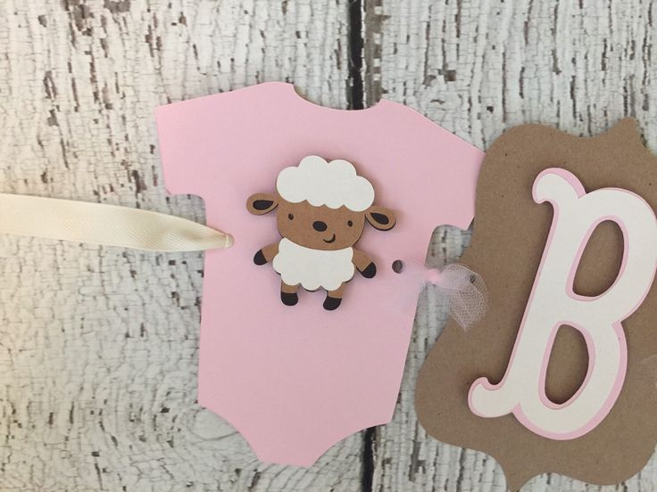 Rustic Lamb Baby Shower Banner, Baby Girl Baby Shower Decoration, Shabby  Chic By AllDiaperCakes