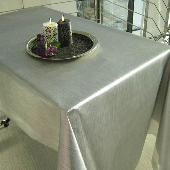 COM METALLIC LOOK TABLECLOTH PVC. Mantel Pvc Efecto Metal. Plastic  TableclothTableclothsMantelsMetallic