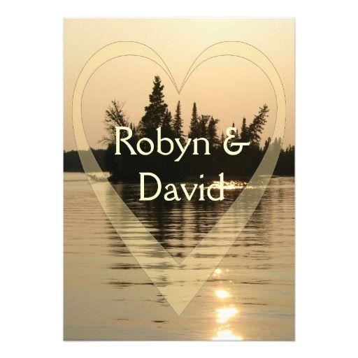 338 best lake wedding invitations images on pinterest bridal sunset engagement invitation stopboris Image collections
