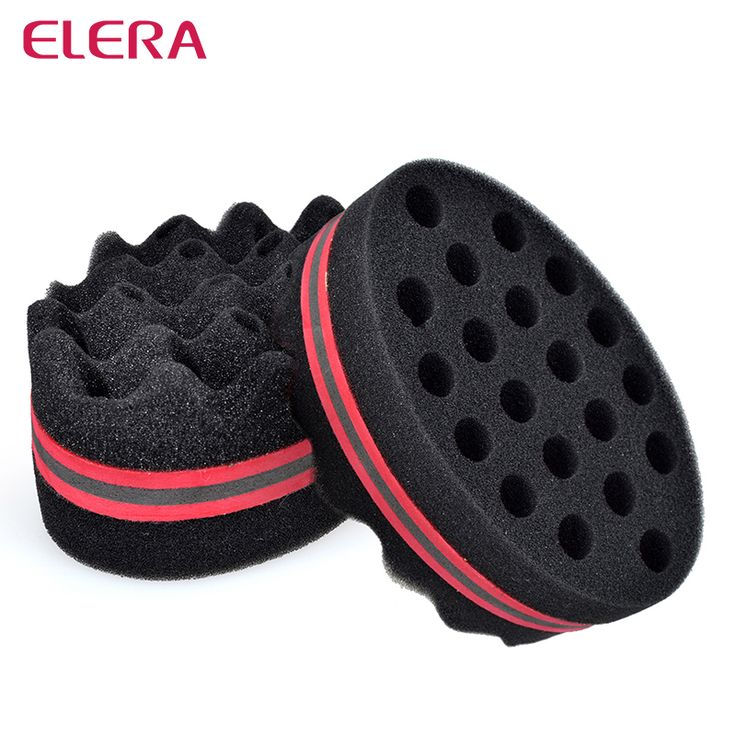 ELERA sihir putar rambut spons, rambut ikal spons sikat untuk rambut alami, gelombang afro coil spons sikat