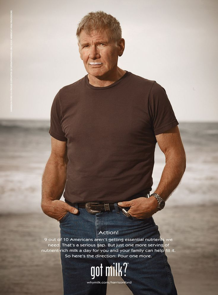 Got Milk Ads |  Harrison Ford