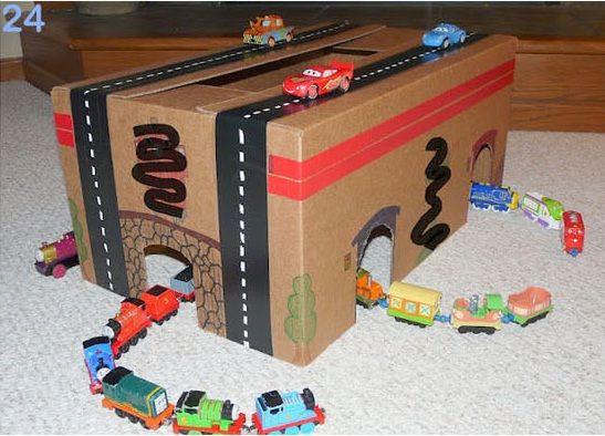 25 formas de reciclar cajas de cartón para que tus hijos se diviertan #reciclar #juguetes #peques