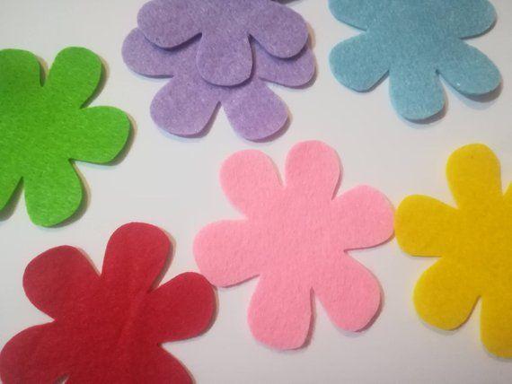 Fiore 7 Petali.Flower Silhouettes 6 Felt Petals Thickness 1 Mm Die In Felt Felt