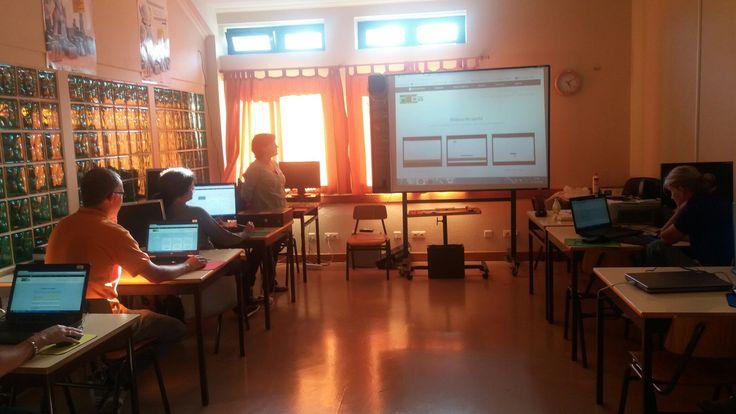 Apresentação da plataforma REDA na Escola Básica do Topo (12 de outubro de 2016).
