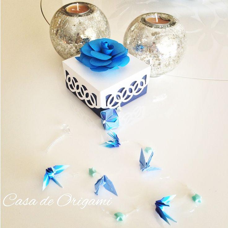 Fio de Tsuru. #aniversario #azul #batizado #bodasdepapel #branco #brindes #caixa #camelia #casadeorigami #casamento #chadebebe #chadecozinha #lembrancinha #maternidade #origami #paperart #papercraft #perolado #tsuru http://casadeorigami.lojaintegrada.com.br