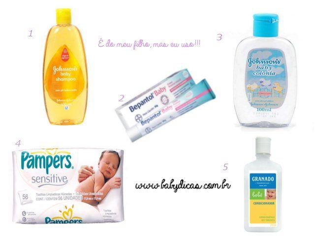 Produtos de bebê que uso em mim. Sim, porque existem produtos de bebê que são bem melhores do que indicados para a idade e o tipo de pele, por exemplo