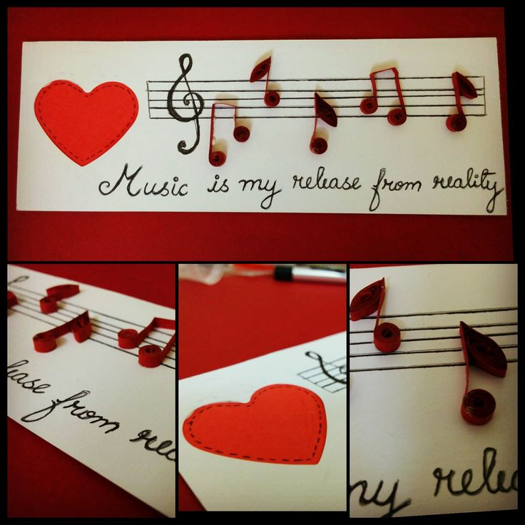 Music is my release from reality  Quilling Musical notes