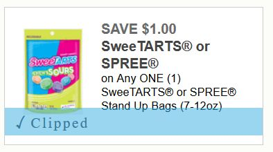Rare! $3 in Savings on  NERDS, LAFFY TAFFY, SweeTARTS or SPREE Candy (RESET!) ($1.50 a Bag at Kroger!)