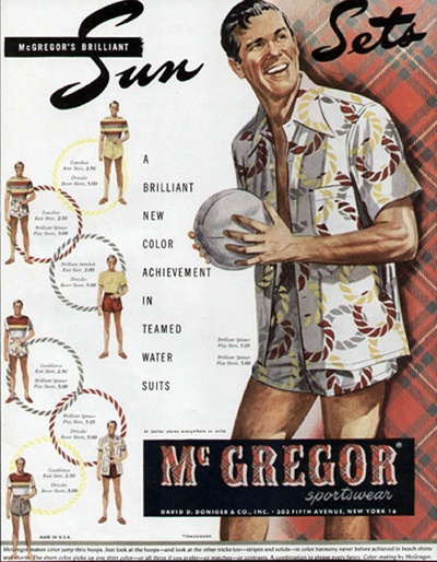 VINTAGE 1948 McGREGOR MEN'S SWIMSUIT AD
