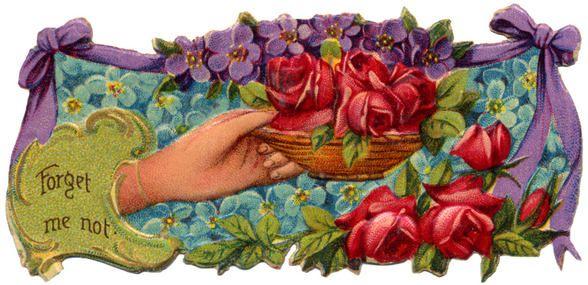 Victorian Summer Flowers Clip Art | ... - Victorian Die Cut - tube victorienne - Victorian Scrap - clipart: