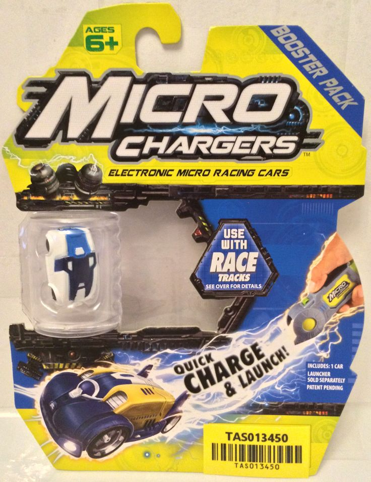 (TAS030181) - Micro Chargers Booster Pack Micro Racing Cars - Blue & White