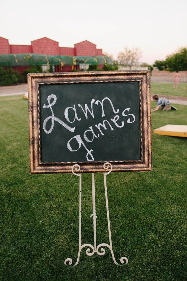 Country Wedding Lawn Games