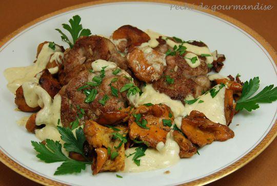 ris de veau au vinaigre de cidre et girolles ris de veau girolles 233 chalotes huile beurre