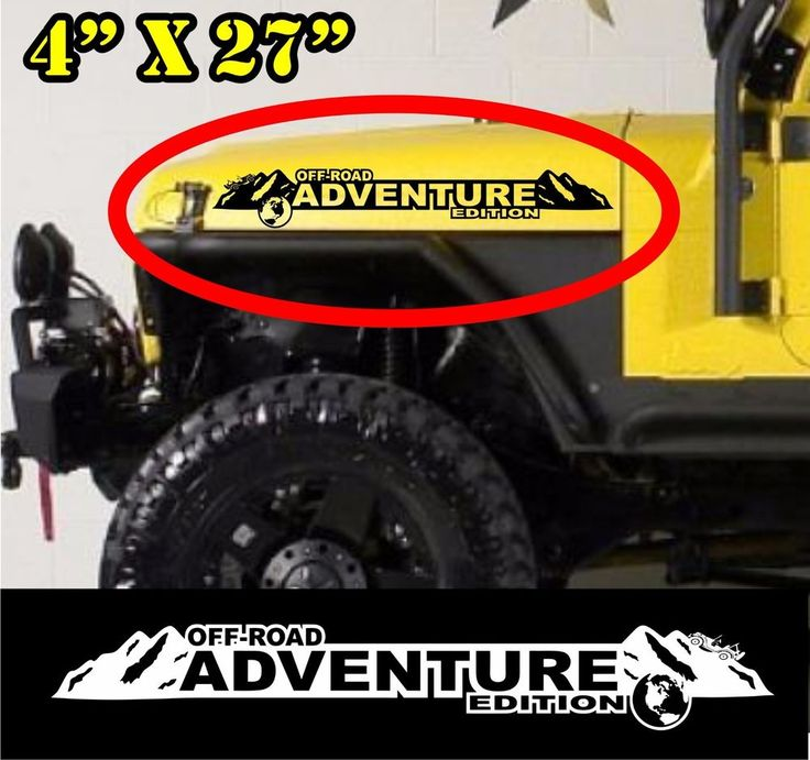 off-road adventure Edition Hood Decals. Custom set for Jeep hoods and other uses #mywindshieldbannercom