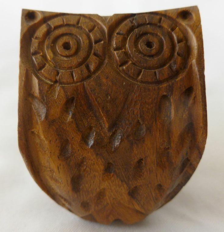 Carved Wooden Owl Knob Cabinet Furniture Hardware