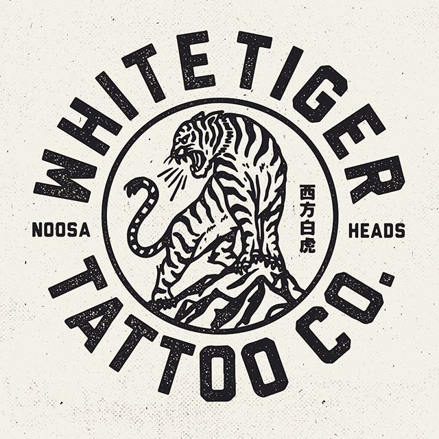 Logo for a mates new venture @mitch13tattoodtd @whitetigertattooco #design… …