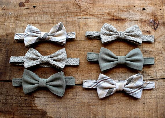 Mismatch Wedding Bowtie for Groomsmen.  AENDEE will create a custom collection just for your wedding!