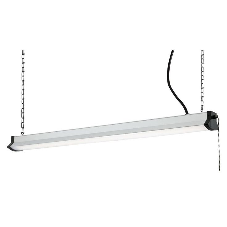 38-Watt Silver Integrated LED Shop Light