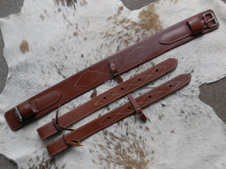 """3"""" Wide Soft Oiled Rear Girth or Flank Cinch With Billets New Horse Tack US Made    eBay"""