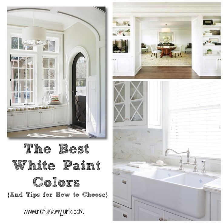 Color Palette {The Best Whites} For Your Home Paint Project   Refunk My Junk