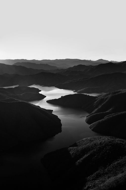 B&w river photographs on huge canvases