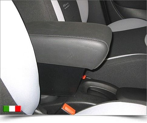 Armrest with storage for Fiat 500 L. Available in all the colors and materials. Total made in Italy