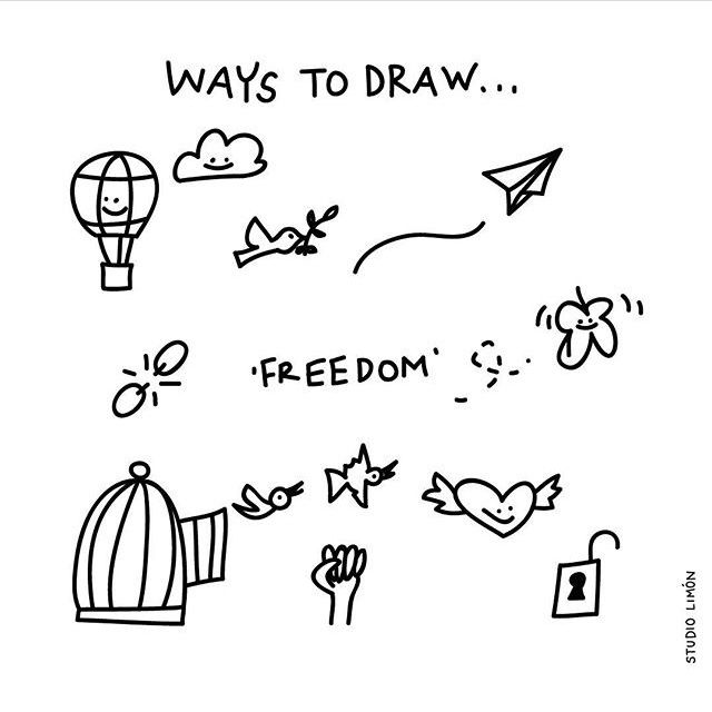 Ways To Draw Freedom Dream Pinterest Easy Drawings Doodle