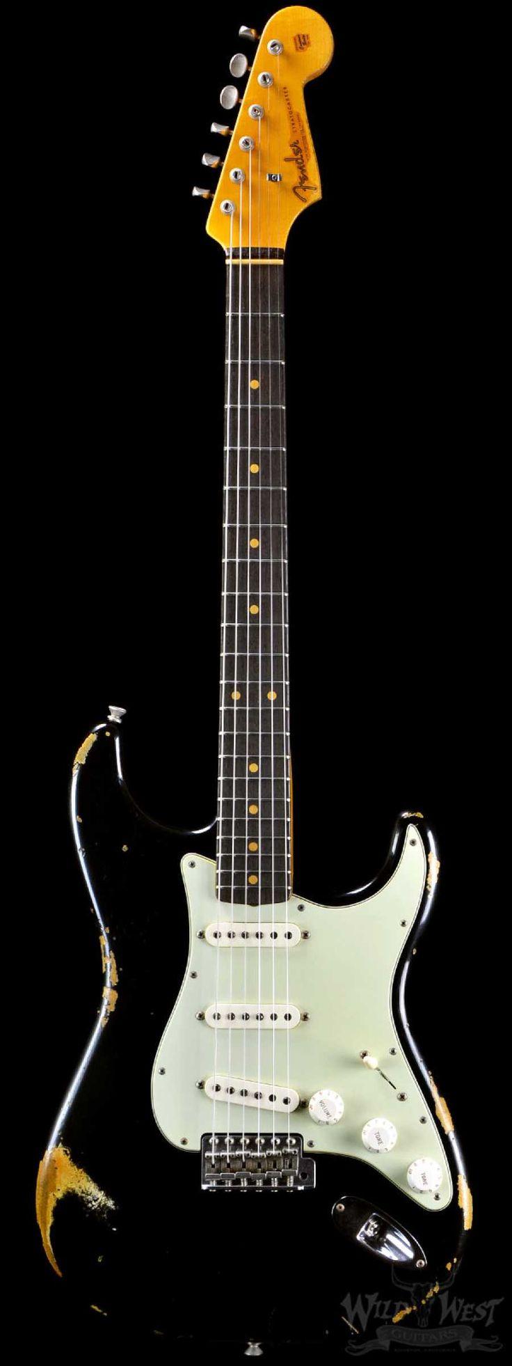 "Fender 1962 Stratocaster Rosie ""V"" Heavy Relic Black - Wild West Guitars"