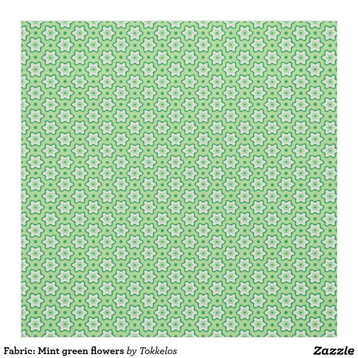 Fabric: Mint green flowers